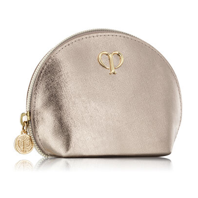 Gold Mini Round Pouch,