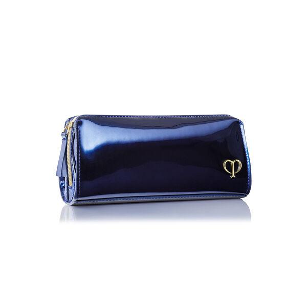蓝色漆皮小袋,