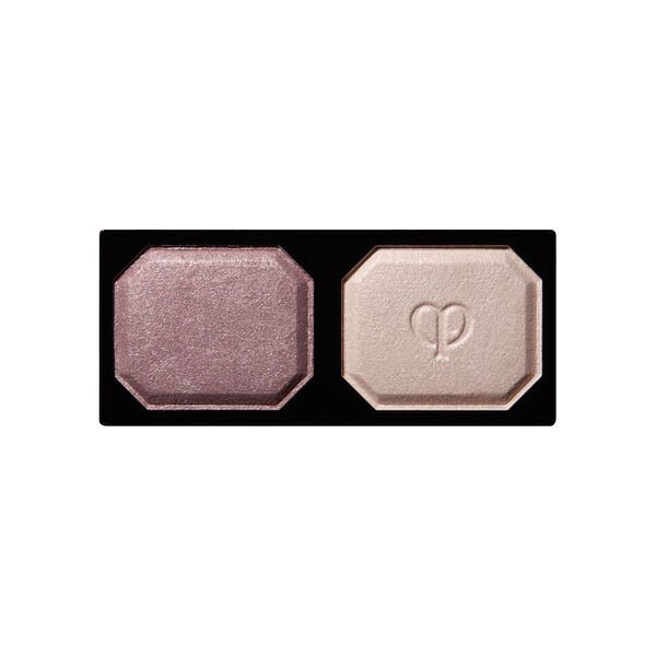 A magnified image of the texture of the Eye Color Duo Refill, Purity Lilac