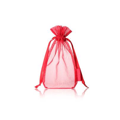 red organza pouch,