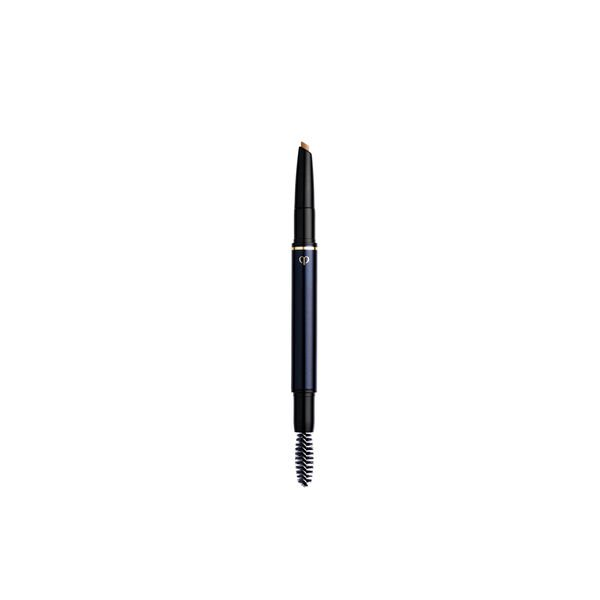 A magnified image of the texture of the eyebrow pencil cartridge, Light Brown