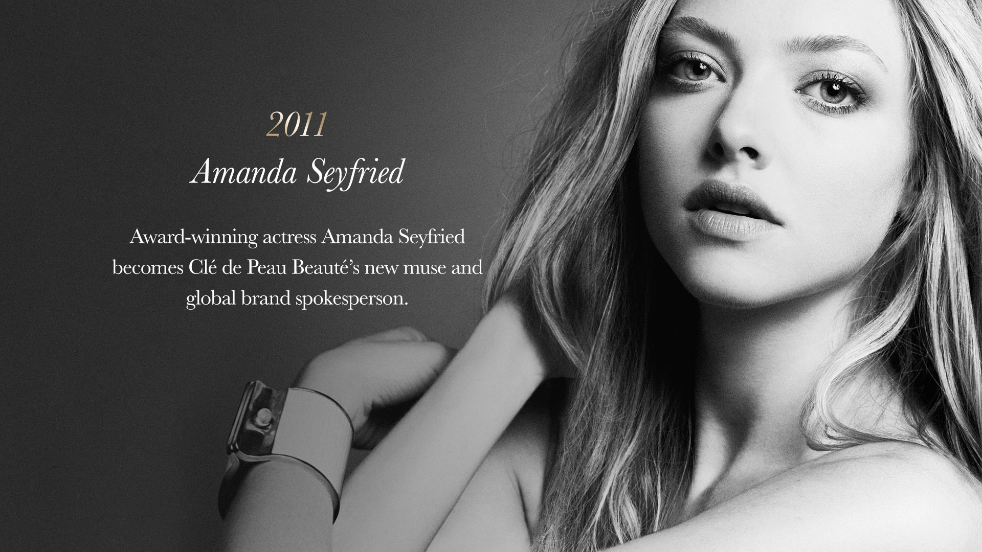 Award-winning actress Amanda Seyfried becomes Clé de Peau Beauté's new muse and global brand spokesperson.
