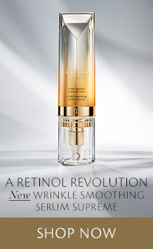 A retinol revolution. NEW Wrinkle Smoothing Serum Supreme. [ SHOP NOW ]