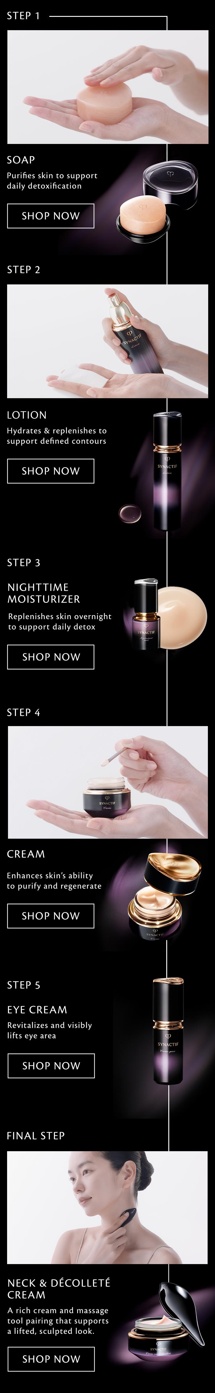 Synactif night regimen products