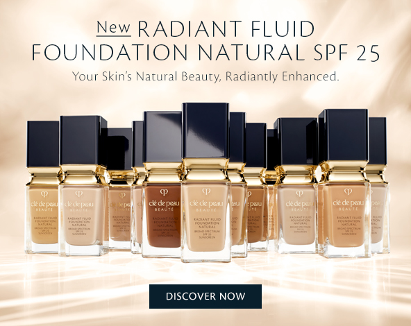 New Radiant Fluid Foundation Natural SPF 25. Your Skin's Natural Beauty, Radiantly Enhanced. Shop Now.