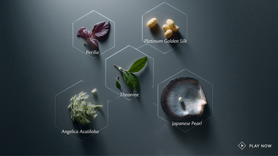 Japanese pearl, Perilla, Platinum golden silk, Theanine and Angelica Acutiloba.
