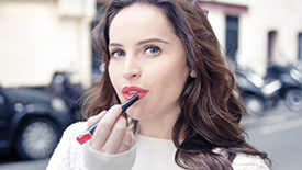 Felicity Jones in Refined Lip Luminzer | Clé de Peau Beauté