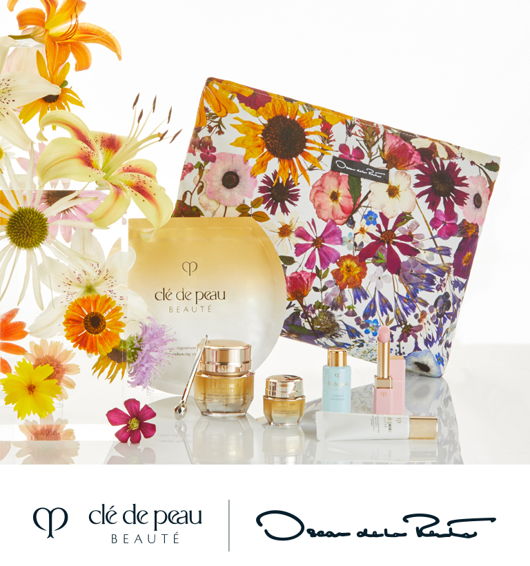 An exclusive , limited edition pouch and skincare set collaboration. $415 ($535 value)